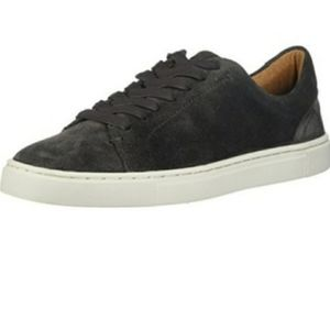 Frye Ivy Low Lace Grigrio Suede Sneaker Size 7.5
